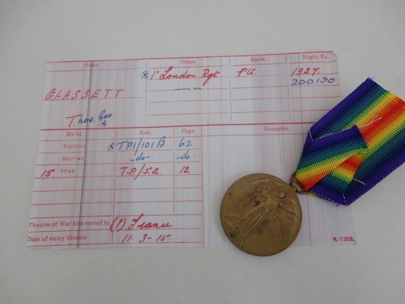 WW1 Victory Medal 1st London