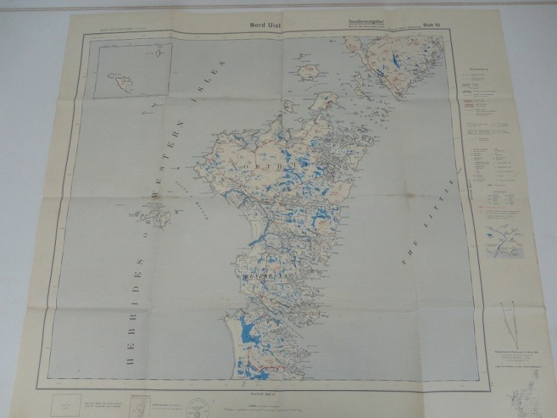 WW2 German Map NE Scotland