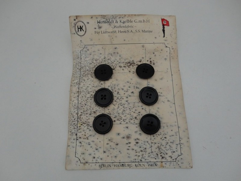 WW2 German SA/SS Buttons Small