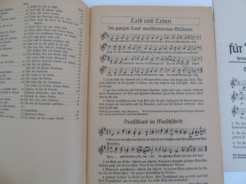 WW2 German Army Song Book