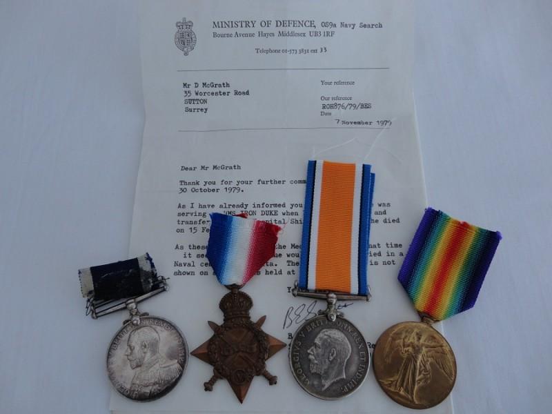 WW1 Navy Long Service Group