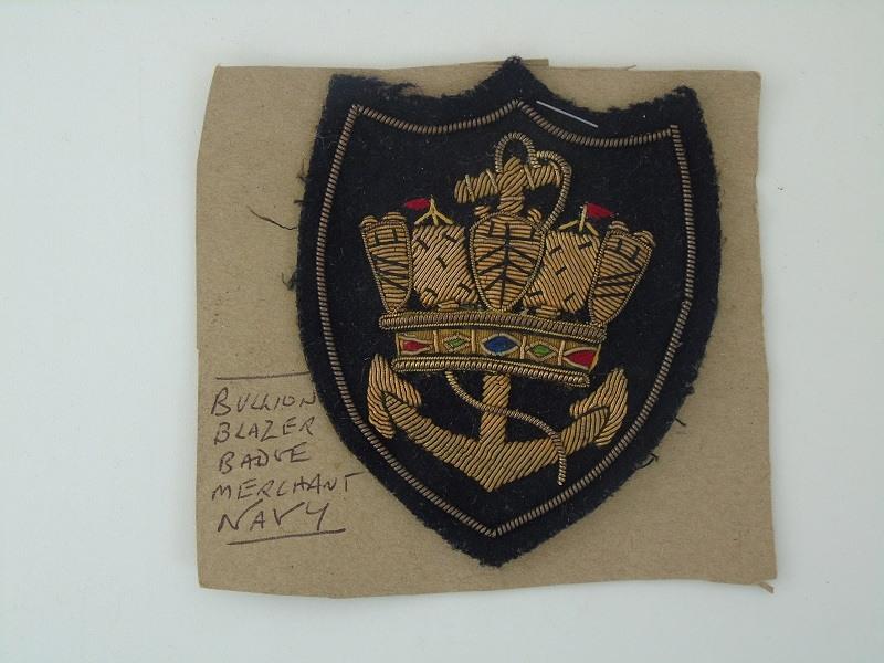 Merchant Navy Blazer Badge