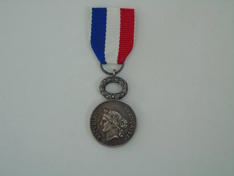Miniature French Republic Life Saving Medal