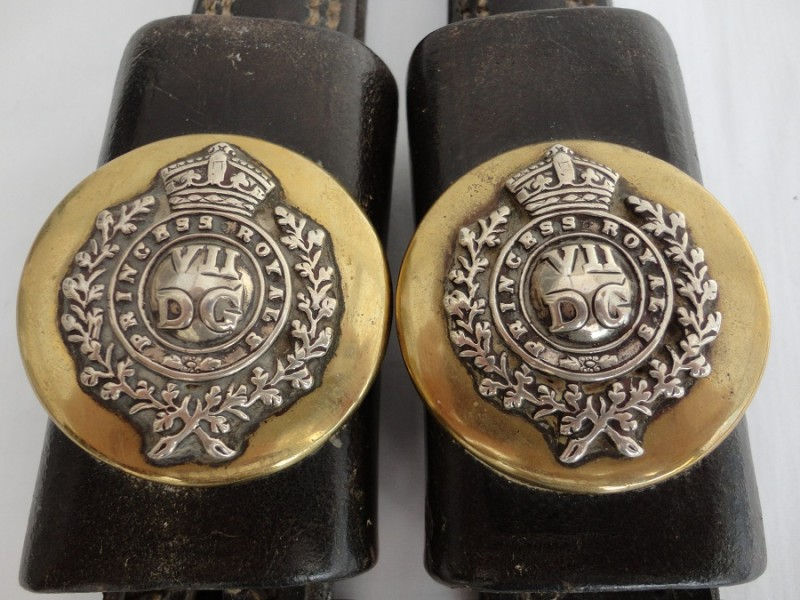 Edwardian Dragoon Guards Horse Brass