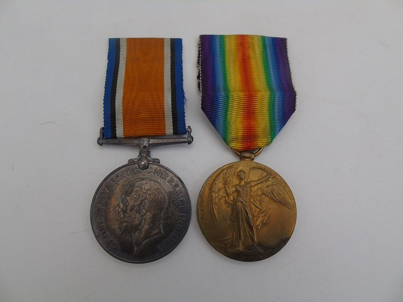 WW1 Pair Brantingham Manch Regt