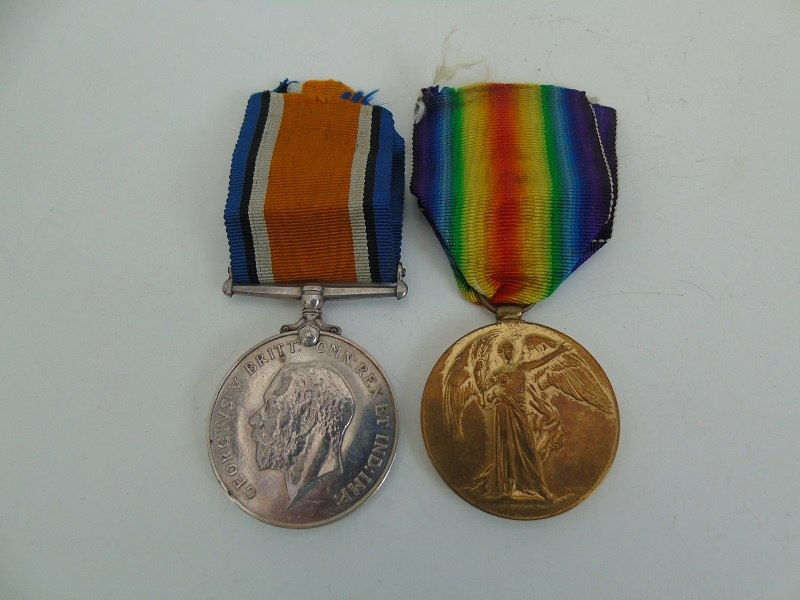 WW1 Pair Docksey North'd Fus
