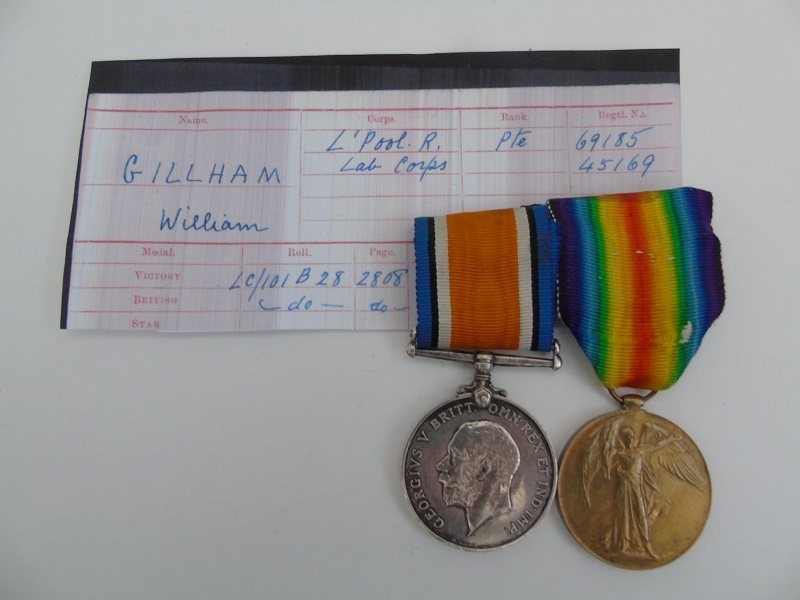 WW1 Pair Gillham Liverpool R