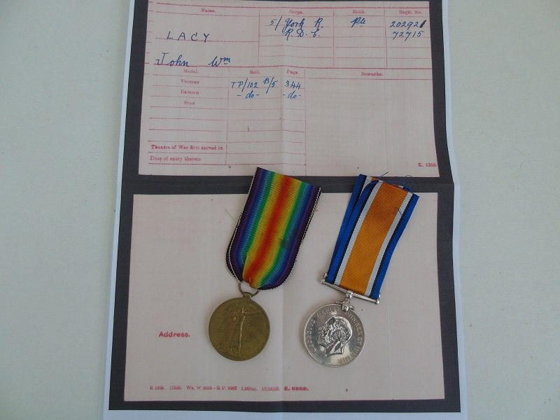 WW1 Pair Lacy York R