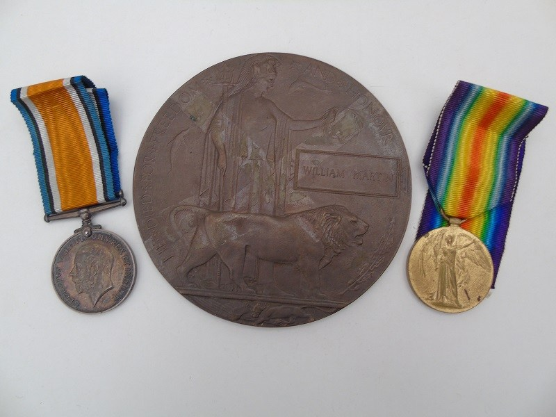 WW1 Pair & Plaque Scot Fusiliers