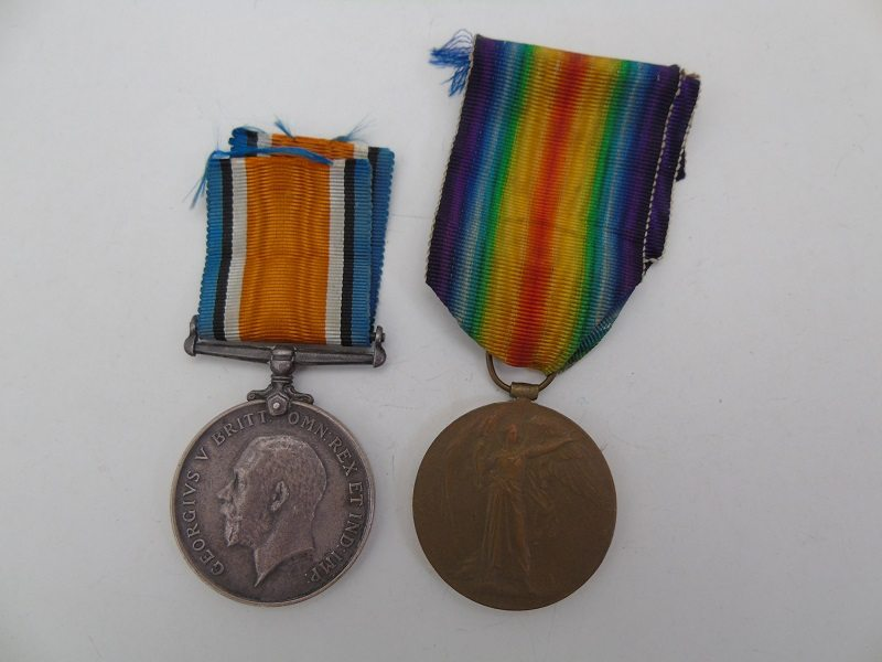 WW1 Pair Nayor Middlesex Regt