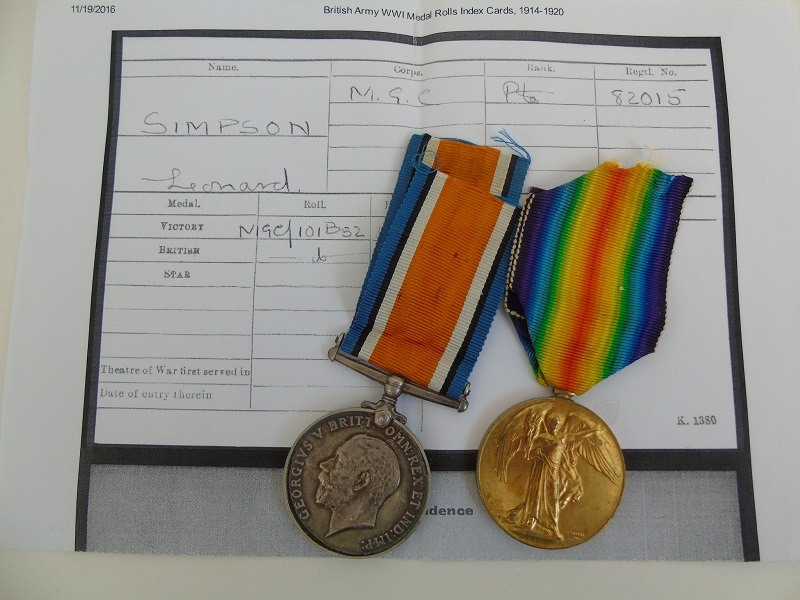 Medal Pair Simpson MGC