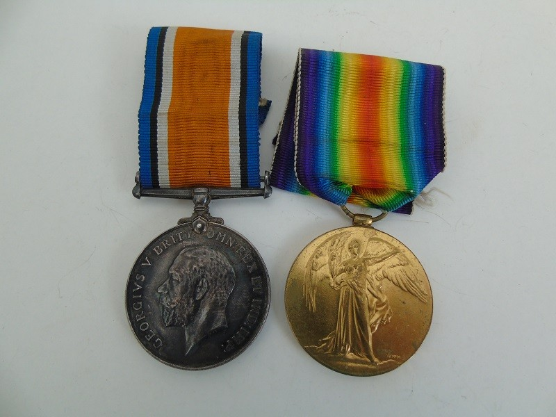 WW1 Pair Stockdale Lan Fus