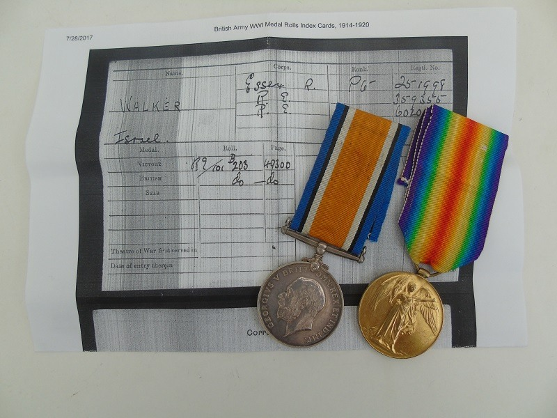 WW1 Pair Walker Essex Regt