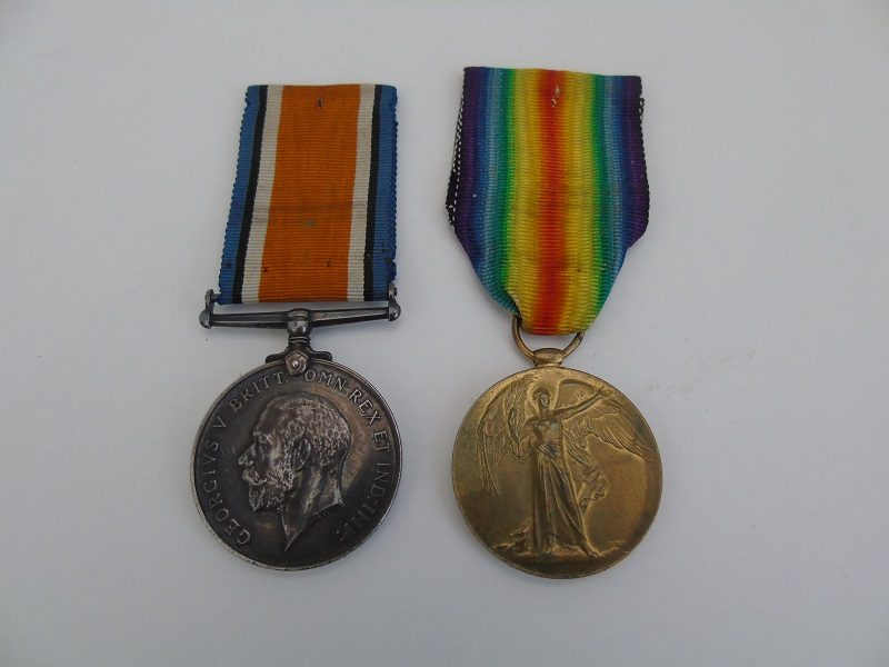 WW1 Pair Weeks Queens Regt
