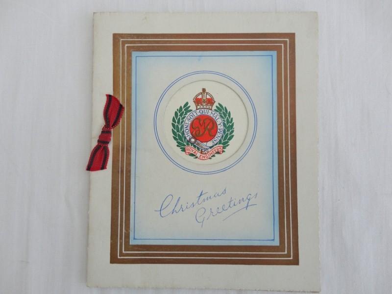 WW2 R.E Christmas Card