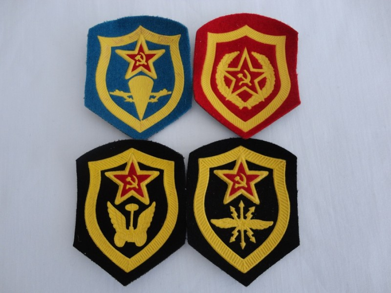 Russian Cloth Badge Set