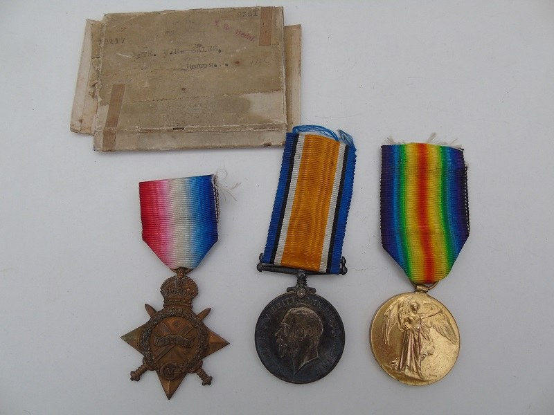 WW1 Trio Sales Hampshire Regt