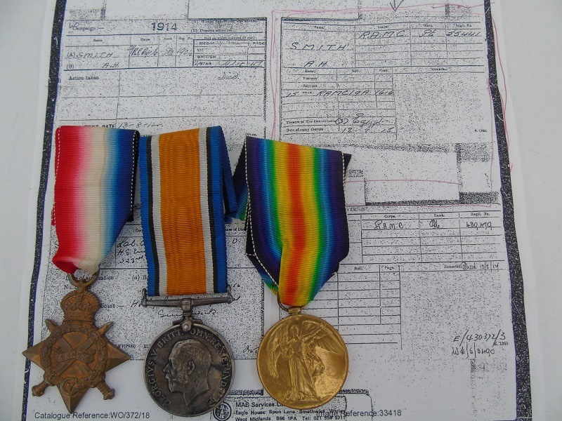WW1 Trio Smith RAMC