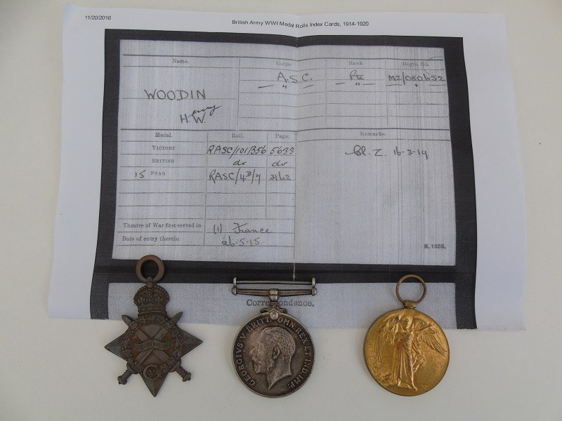 WW1 Trio Woodin ASC