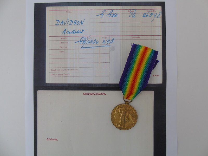 WW1 Victory Medal Davidson G Guards