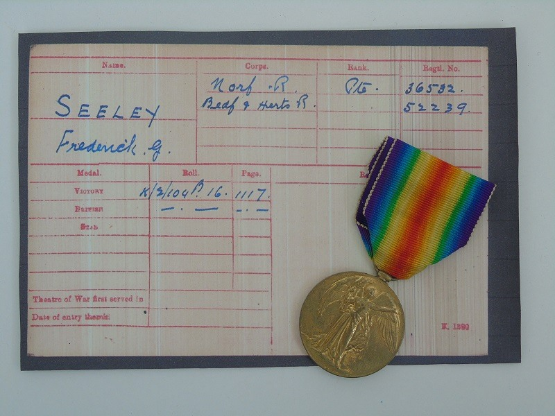 WW1 Victory Medal Seeley Norfolk's