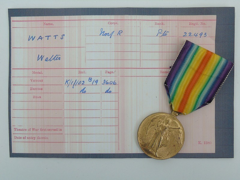 WW1 Victory Medal Watts Norfolk's