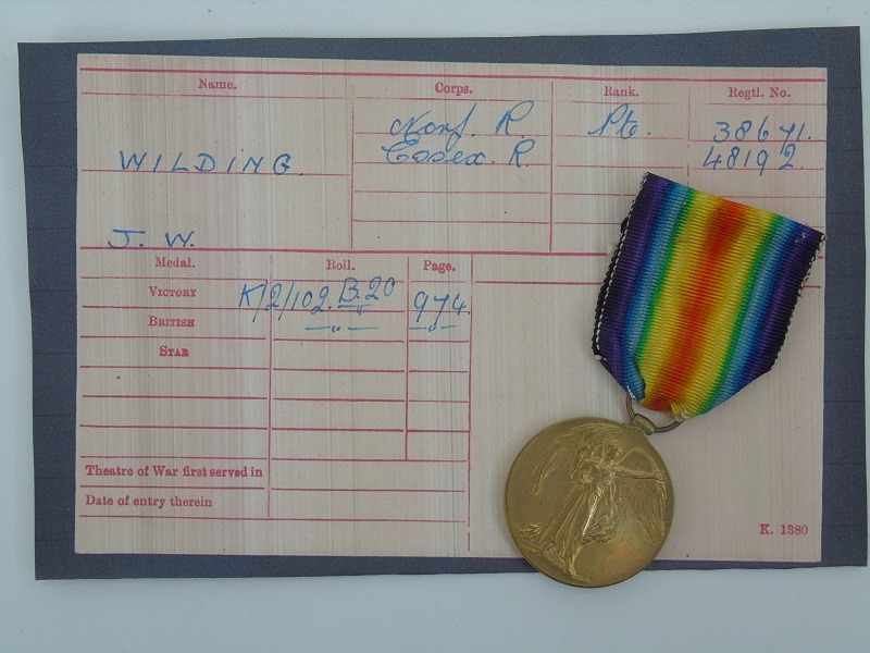 WW1 Victory Medal Wilding Norfolk's