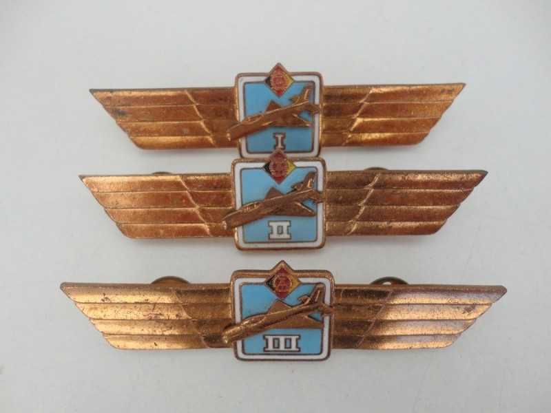 East German Mig Badges