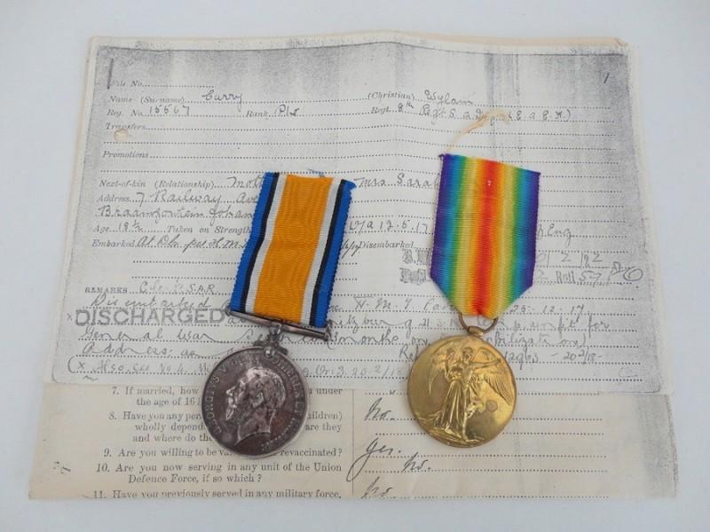 WW1 Medal Pair 8th S.A.I