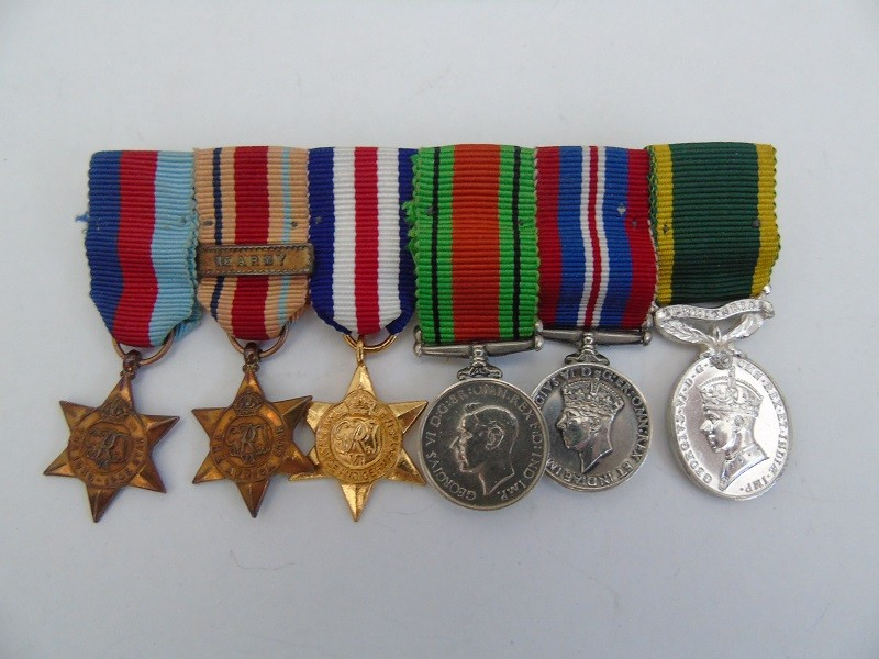 WW2 Miniature Medal Group