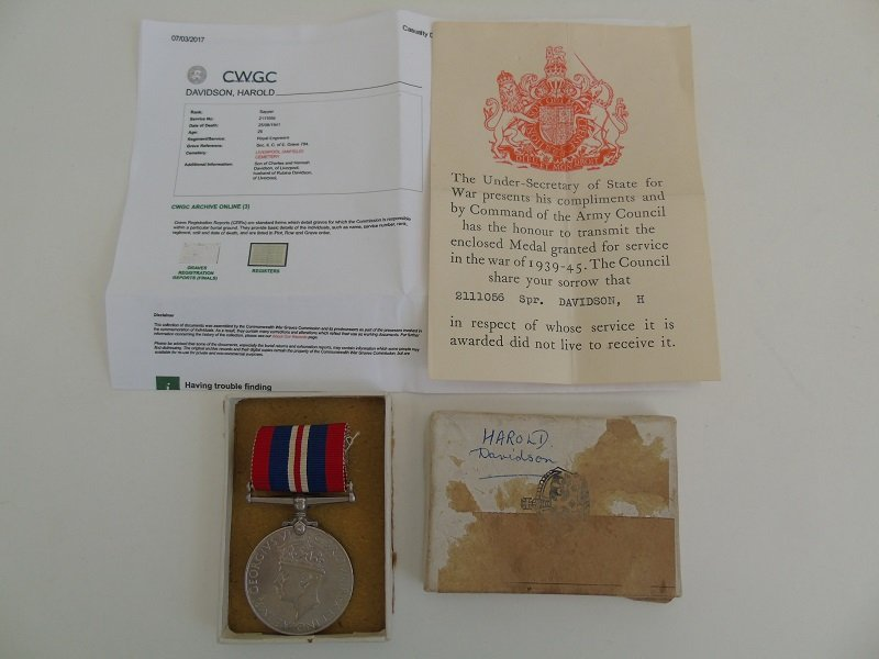 WW2 War Medal KIA